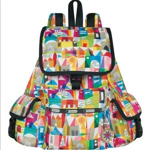 Lesportsac Disney Small World Voyager Backpack NWT
